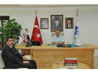 Denetimli Serbestlik Müdürü Acar'dan Başkan Akkaya'ya Ziyaret