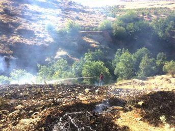 Çalılık Yangını Ağaçlara Sıçramadan Söndürüldü