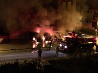 Galerideki Lüks Araçlar Yakıldı