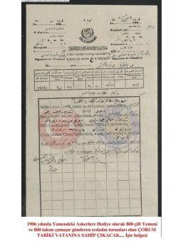 Çorumlular Yemen'deki Osmanlı Askerine 800 Çift Ayakkabı Hediye Göndermiş