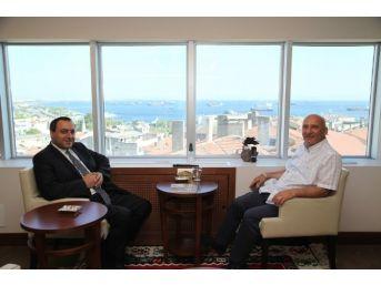 Aydemir Adem Kınalı'dan Başkan Altınok Öz'e Ziyaret