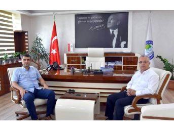 Binbaşı Yavuz'dan Başkan Kayda'ya Veda Ziyareti