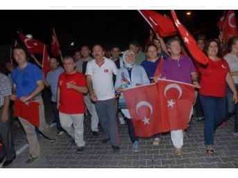 Beşkaza Demokrasi Yürüyüşüne 5 Bini Aşkın Vatandaş Katıldı