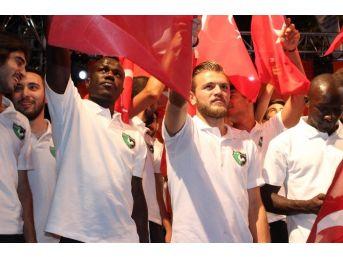 Denizlisporlu Futbolcular, Demokrasi Nöbetine Katıldı