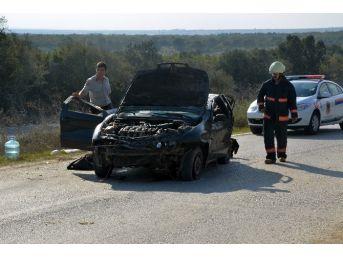 Silivri'de Sıkışmalı Kaza: 6 Yaralı