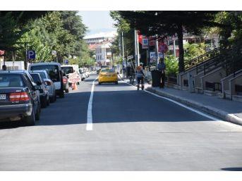 Mehmet Akif Caddesi Yol Çizgileri Tamamlandı