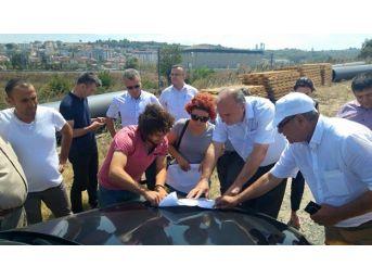 Başa, Çerkezköy Kanalizasyon Terfi Hattı Çalışmalarını Yerinde İnceledi