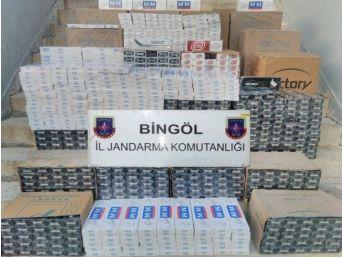 Bingöl'de 13 Bin 740 Paket Kaçak Sigara Ele Geçirildi
