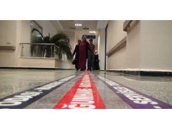 Dev Hastanede Kaybolan Hastalar Bu Şeritlerle Yönlerini Buluyor