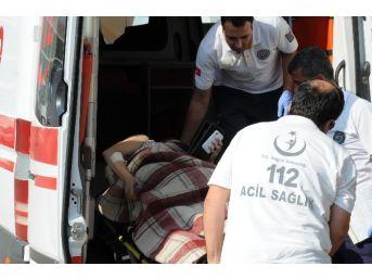 Darp Edilen Kadın Hastaneye Kaldırıldı