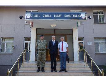 Kaymakam Kubilay'dan 3. Zırhlı Tugay Komutanı Candaş'a Hayırlı Olsun Ziyareti