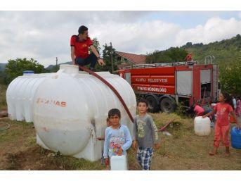 Alaplı Belediyesi Fındık İşçilerinin Su İhtiyacını Karşılıyor