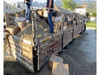Denizli'de 450 Bin Paket Kaçak Sigara Ele Geçirildi