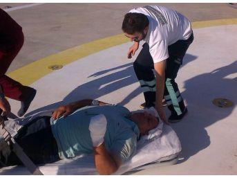 Kopan Parmakları Ambulans Helikopter İle Hastaneye Yetiştirildi