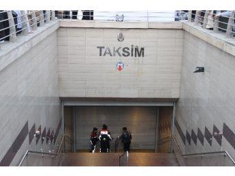 Taksim Metro İstasyonunda İntihar Girişimi