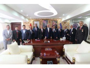 Gazilerden Başkan Saraçoğlu'na Ziyaret