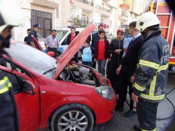 Yozgat'ta Otomobil Yangını Korkuttu