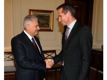 Başbakan Yıldırım, Danimarka Dışişleri Bakanı Kristian Jensen'i Kabul Etti