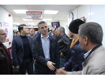 Bolu Valisi Baruş Ve Ak Parti İl Başkanı Doğanay Yaralıları Ziyaret Etti