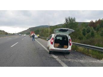 Düzce Tem Otoyolu'nda Kaza: 1 Yaralı