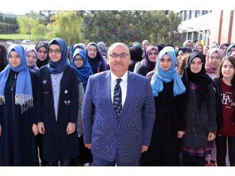 Şehit Erol Olçok Kız Anadolu İmam Lisesinde İlk Bayrak Töreni Yapıldı