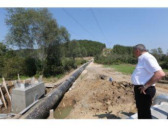 Başkan Toçoğlu Akçay Barajı Ve İsale Hattı Çalışmalarını İnceledi