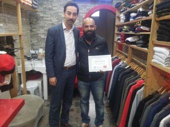 Türkçe Tabela Kullanan İş Yerlerine Teşekkür Belgesi