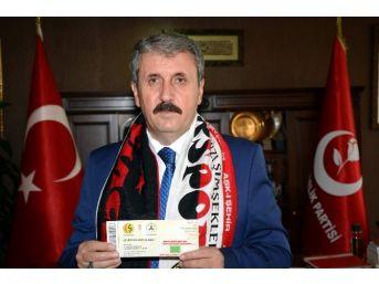 Başkan Destici'den Eskişehirspor'a Destek