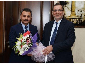 Halk Bankası Genel Müdürü'nden Başkan Külcü'ye Ziyaret