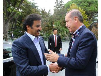 Cumhurbaşkanı Erdoğan, Katar Emiri İle Bir Araya Geldi