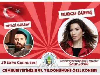 Alaşehir'de Cumhuriyet Coşkusu Burcu Güneş İle Yaşanacak