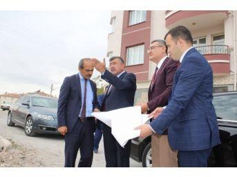Başkan Akdoğan, Kentsel Dönüşüm Alanında İnceleme Yaptı