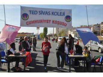 Sivas Ted Koleji 'cumhuriyet Koşusu' Düzenledi