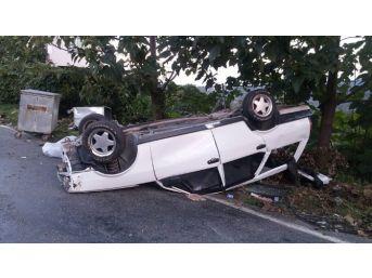 Alaplı'da Otomobil Takla Attı: 1 Yaralı