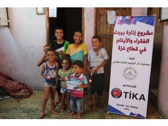 Gazzeli 200 Aileye Tika'dan Led Aydınlatma Sistemi Desteği