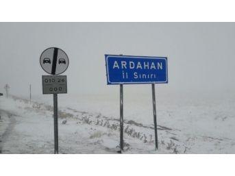Sahara Geçidi Karla Kaplandı