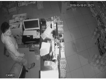 Mut'ta Market Soyan Hırsızlar Güvenlik Kamerasına Takıldı