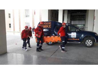 Hastanede Yangın Tatbikatı Yapıldı