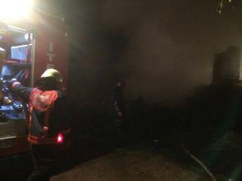 Samanlık Yangını İtfaiye Ekiplerince Söndürüldü