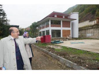Başkan Gümrükçüoğlu Uyuşturucu İle Mücadele Merkezi İnşaatını Denetledi
