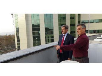 Belediye Başkanı Süleyman Özkan, Hastane İnşaatını İnceledi
