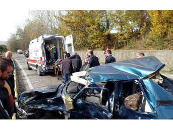 Tır'ın Çarptığı Otomobilin Sürücüsü Öldü