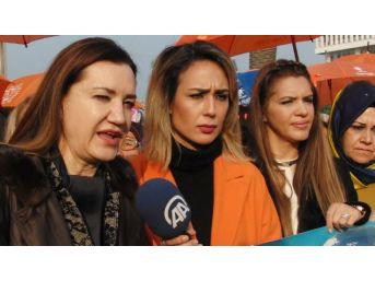 Chp'li Kadınlardan Şiddete Karşı Tiyatrolu Açıklama