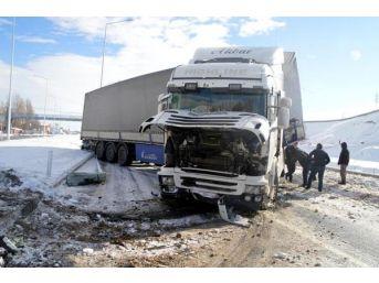 Tır Kaydı, Ağrı- Erzurum Karayolu 1 Saat Kapandı