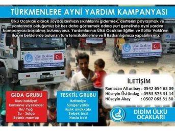 Didim Ülkü Ocakları'ndan Türkmenlere Yardım Kampanyası
