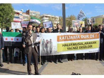 Halep'te Öldürülen Müslümanlar İçin Gıyabi Cenaze Namazı Kılındı