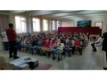 İtfaiyeden Çocuklara Yangın Eğitimi