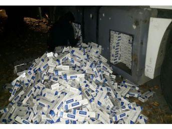 Yakıt Deposuna Gizli 25 Bin 930 Paket Kaçak Sigara Yakalandı