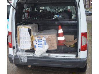 Manisa'da Bin 400 Paket Kaçak Sigara Ele Geçirildi