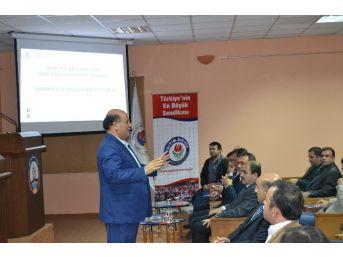 Eğitim-bir-sen Adana Şubesi İş Yeri Temsilcilerine Sendikal Eğitim Veriyor